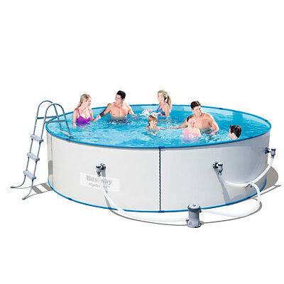 Bestway Steel Sidewall Above Ground Swimming Pool 12ft Hydrium Splasher