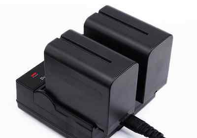 Dual Battery Charger for Sony NP-970 NP-960 NP-930 NP-F770 NP-F750 NP-F730H F550