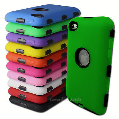 NEW Heavy Duty Cover Case for Apple iPod Touch 4 4th Gen 4G Tradesman Tough