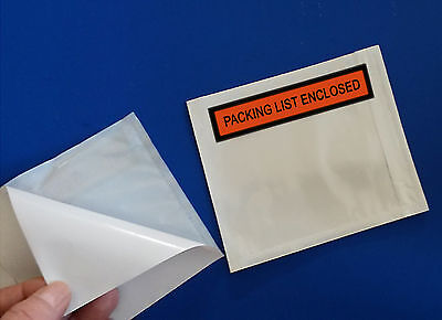 "2-Mil ~ 50 Packing List Enclosed 4 1/2 x 5 1/2"" Slips Envelopes Box Pouches 5.5"