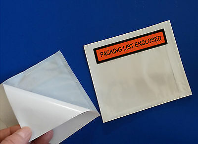 "200 Packing List Enclosed 4 1/2 x 5 1/2"" Slips Envelopes Packaging Box Pouches"