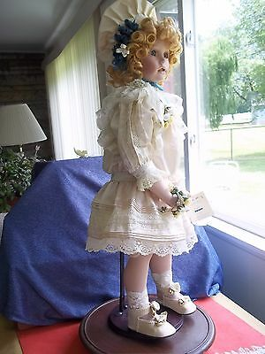 "Bride playing Seymour doll 30"" tall Maud Humphrey #20/2500 limited Edition 2003"