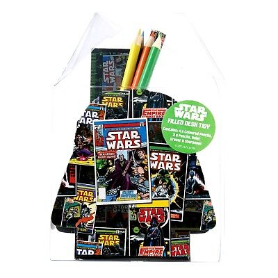 Star Wars FILLED DESK TIDY / Star Wars Stationary Set : WH5 : 521 : NEW IN BOX