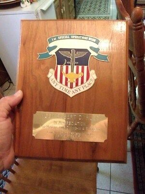 Rare USAF Major Generals 1st Special Operations Wing Command Plaque