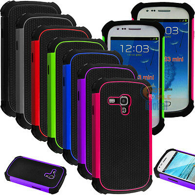 For Samsung Galaxy S3 S III Mini i8190 Shockproof Hybrid Case Protective Cover
