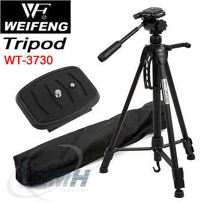 Pro Photo/Video Tripod With Case for Nikon D3100 D5100 Canon EOS Rebel T3 T3i