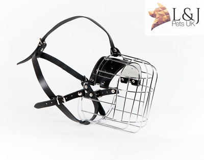New Strong Metal Wire Basket Dog Muzzle Great Dane