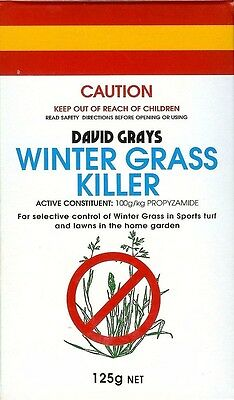 WINTER GRASS KILLER -125g David Grays Herbicide Lawn Weed Control Propyzamide