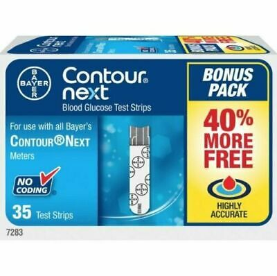 Bayer Contour Next EZ Blood Glucose 200 Test Strips + Free Meter Exp: 02/28/2019
