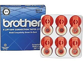 Lot of 7 Packs Brother 3015 - 6 Lift-Off Correction Tapes