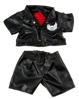 "TEDDY BEAR Outfit EASY RIDER BIKER CLOTHES Fit 14-18"" Build-a-bear !!NEW!!"