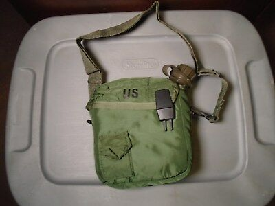 Genuine Us Military Canteen 2 Quart Collapsible Water Canteen With Case & Strap