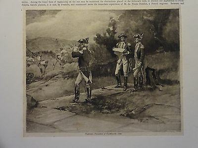 "Great B/W Print - ""ENGINEERS, FORMATION ... 1782"", Published in 1890 by G.B."