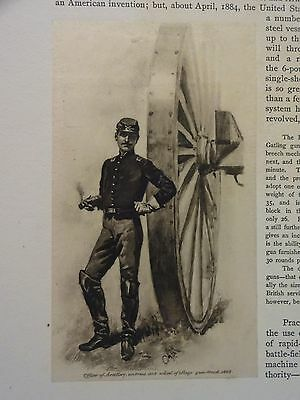 "Great B/W Print - ""OFFICER OF ARTILLERY ... 1862""  Published in 1890 by G.B."
