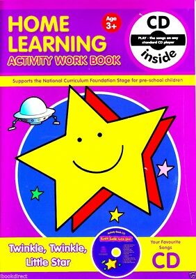 Early Learning Preschool Activity Work Book & CD (Twinkle Twinkle) WH1-R6B : NEW