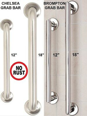 Bathroom Shower Stainless Steel Disability Aid Support Handle Grab Bar Hold Rail