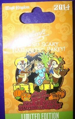 Disney Mickey's Scary Halloween Party 2014 Chip & Dale PIN 103166 LE Tic n Tac