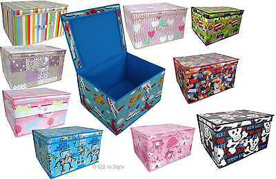 Childrens Kids Boys Girls Large Jumbo Storage Toy Clothes Books Box Chest Tidy
