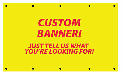 Custom Sign Banner with Grommed (Full Color) 2' x 5'