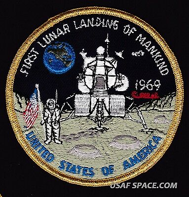 Vintage Original First Lunar Landing Of Mankind 1969 Apollo 11  Nasa Space Patch