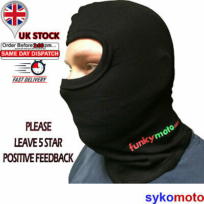 Balaclava Cotton Stretch Thermal One 1 Hole Tour Motorcycle Discount Cheap Fm