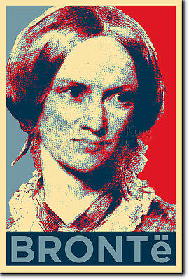EMILY BRONTE ART PHOTO PRINT (OBAMA HOPE) POSTER GIFT Brontë WUTHERING HEIGHTS