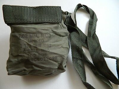Vintage U.s. Military Surplus Ammo/Mag Pouch/Bandolier, 7.62Mm, 6 X 6 X 3 Inches