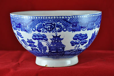 """Blue Willow Footed Rice Bowl """"Japan"""""""