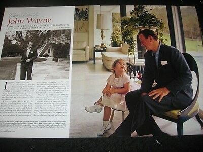 JOHN WAYNE magazine clippings * Architectural Digest
