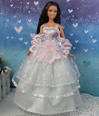 hot New Fashion Handmade lovely Dress Clothes For Barbie Doll a97