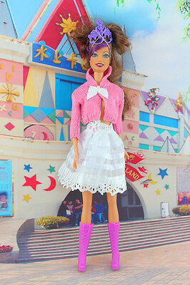 2014 hot style Fashion Handmade princess cool Clothes For Barbie Doll a111