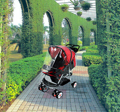 Universal Clear Waterproof Rain Cover Wind Shield Fit Most Strollers Pushchair