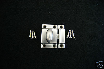 Cabinet Latch Brass Heavy Cast Brushed Nickel