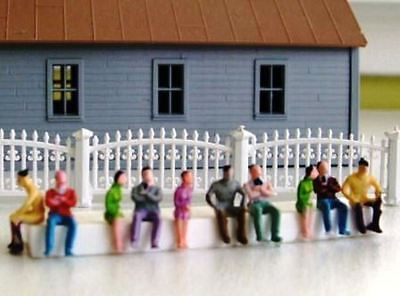 50 Passengers Seated Sitting Train Car or Bus painted figures N 1/160 scale