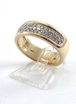 NEUPREIS 815,- TOP DIAMANT RING AUS 585 / 14 KT GELBGOLD