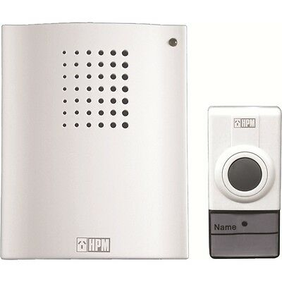 Brand New HPM White Wireless Battery Operated Door Bell Chimes D642/01