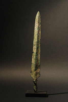 Luristan Spear On Custom Stand  Ca.  1000 B.c.
