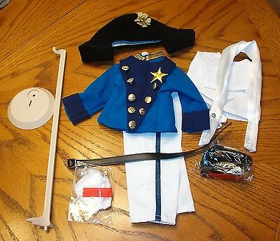 """SHIRLEY TEMPLE DRESS UP DOLL 10 PC OUTFIT """"LITTLE COLONEL"""" FOR 16 IN S T DOLLS"""