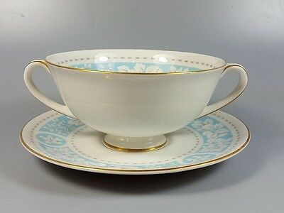 Royal Doulton Hampton Court Tc1020 Cream Soup Coupe / Cup And Saucer (Perfect)