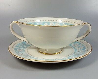 Royal Doulton Hampton Court Tc1020 Cream Soup Coupe / Cup And Saucer