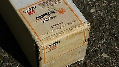 "1 roll Plotter Film Inkjet 34"" x 125' 2"" core 3 mil 2 matte Azon 130443 NEW"