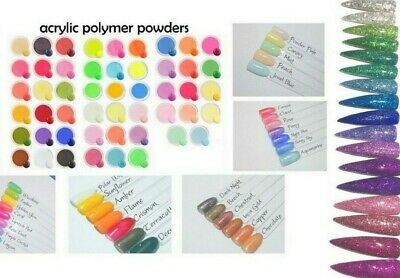 Colour Acrylic Powders Powder Pigment Neon Glitter Shimmer Nail Art 3D Liquid