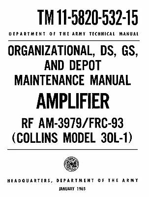 Manual Reprint For Collins 30L-1  RF AM-3979/FRC-93
