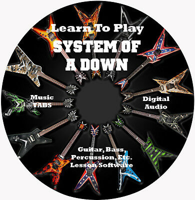System Of A Down Guitar TABS Tablature Lesson CD, 121 Songs, 27 Backing Tracks!