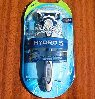 3x WILKINSON SWORD HYDRO 5 RAZOR WITH 1 BLADE BRAND NEW TOTAL OF 3 RAZORS/BLADES