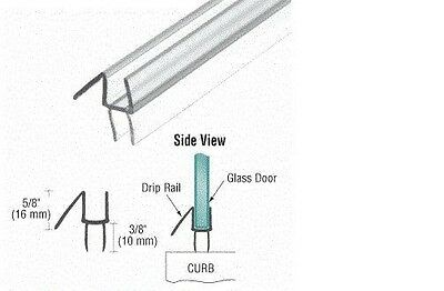 """CRL 5/16"""" Wide Shower Door Sweep - CUT TO SIZE up to 32 5/8 inches long"""