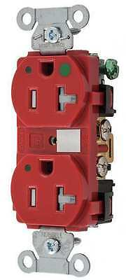 HUBBELL WIRING DEVICE-KELLEMS 8300REDLTR Receptacle,125V,20A,1 HP G6151521
