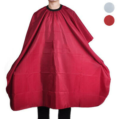 Hot White Red Pro Salon Hairdressing Cloth Cape Barbers Hair Cutting Gown Adults