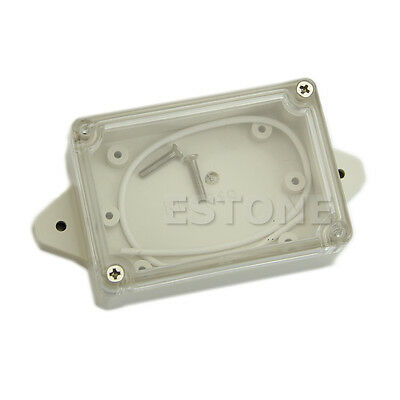 Plastic Waterproof Cover Clear Electronic Project Box Enclosure Case 85*58*33MM