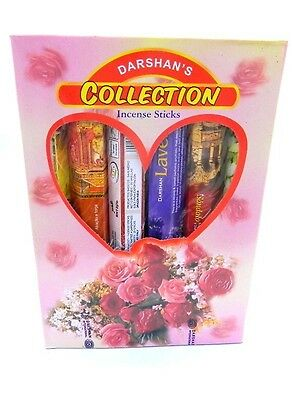 Collection darshan incense 120 sticks Gift Box with 6 different scents!